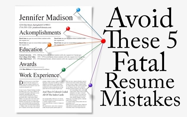 5 fatal resume mistakes to avoid